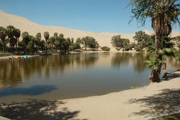 The Huacachina Oasis, near Ica, Peru
