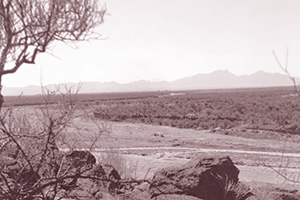 The Santa Cruz river, south of Tucson, Arizona, c. 1989.
